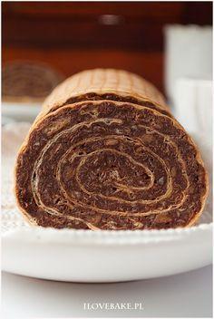Ciasto salceson - I Love Bake Polish Recipes, Polish Food, No Bake Desserts, Pancakes, Food And Drink, Sweets, Cookies, Baking, Breakfast