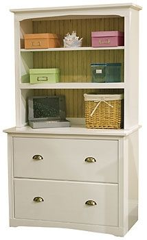 Unique File Cabinet with Bookcase Hutch