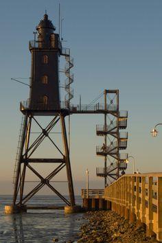 Lighthouse Obereversand Dorum- Neufeld, North Sea, Germany