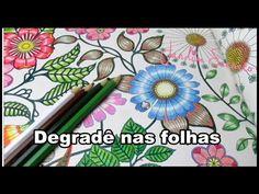 Jardim Secreto - Degradê verde e marrom nas folhas | Luciana Queiróz