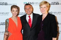 Ruby Rose, Jean-Christophe Babin & Dimity Hodge (Australian National Committee for UN Women)
