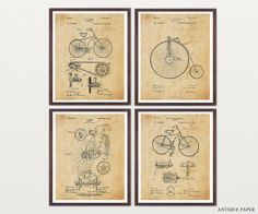 Bicycle Patent Art  Bicycle Poster  door WunderKammerEditions