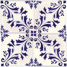 Sintra Antique Handpainted, Portuguese, Tiles - A1-Portuguese tiles - 149-Madeira 4 tile
