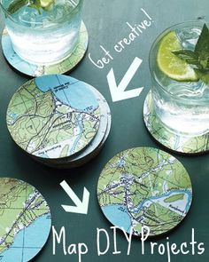 love the map coasters, would be fun to map out different locations that have significant meanings to them :)
