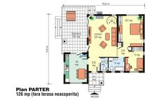 case-de-vis-pe-doua-nivele-two-story-dream-homes-7 Beautiful House Plans, Beautiful Homes, Small House Design, Floor Plans, How To Plan, Cherry, Dream Homes, Home Plans, Cottage Style Houses