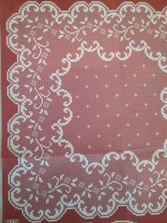 Crochet Doily Patterns, Crochet Doilies, Oval Tablecloth, Cross Stitch Borders, Crochet Home, Filet Crochet, Handicraft, Diy And Crafts, Knitting