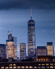 OneWTC at night by @brandontaoka #nyc #newyork #newyorkcity #manhattan #brooklyn #queens #eastvillage #westvillage #midtown #downtown #tribeca #soho #uppereastside #upperwestside