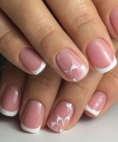Super Stylish Wedding Floral Nail Art Designs