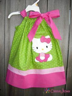 Green Hello Kitty pillowcase Dress