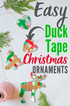 Easy DIY Colored Duct Tape Christmas Ornaments! #DuctTapeChristmasOrnaments #DuctTapeCrafts #DuctTapeCraftsForKids #ducktape #ducktapeideas #ducttapeideas #ducktapecrafts #ducktapecraftsforkids #DuctTapeHolidayIdeas #DuctTapeChristmasCrafts #DIYChristmasCraft #DIYChristmasOrnamentIdeas #EasyOrnamentIdeas #EasyChristmasCraftIdeas #EasyChristmasOrnamentIdeas Easy Christmas Ornaments, Handmade Christmas, Christmas Fun, Winter Holiday, Christmas Craft Projects, Holiday Crafts, Holiday Ideas, Duck Tape Crafts, Duct Tape