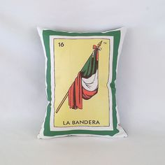 Bandera Flag / Banner Loteria Pillow Cover with by PillowandPocket