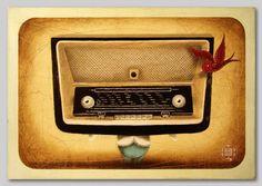 paintings II / by Robert Romanowicz || Radio antigua (Old Radio),  acrylic on plywood