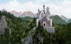 Man Made Neuschwanstein Castle  Castle Wallpaper