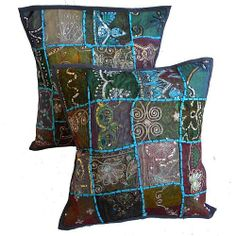 Vintage sari cushion covers-tribal india cushion covers jaipur india  Price: $3.05  Size: 40 x 40 CM  For more products & details please visit our website.  http://www.zenamart.com/index.php?categoryID=273