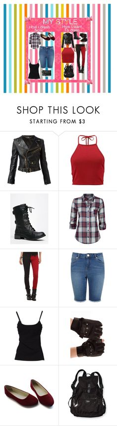 """""""My Style"""" by queenharley666 ❤ liked on Polyvore featuring Alexander McQueen, Boohoo, Full Tilt, Tripp, Miss Selfridge, D&G, Victoria's Secret and Nine West"""