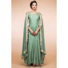 Boutique collection, Anarkali churidar silk cheap indian prom suits, Green zari embroidered andaaz party wear now in shop. Andaaz Fashion brings latest designer ethnic wear collection in US
