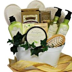 Gourmet Food: Art of Appreciation Gift Baskets Peace and Relaxation Eucalyptus Spa Bath and Body Gift Set Gourmet Gifts, Food Gifts, Gourmet Recipes, Mother's Day Gift Baskets, Christmas Gift Baskets, Raffle Baskets, Christmas Time, Holiday Gifts, Gifts