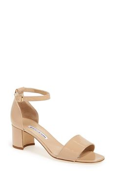 Manolo Blahnik 'Lauratomod' Ankle Strap Sandal (Women) available at #Nordstrom