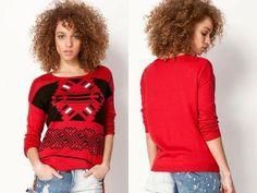 czerwony sweter na Feegle Baseball, Tees, Fashion, Moda, T Shirts, Fashion Styles, Fashion Illustrations, Teas