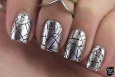 nails, nail art, nail polish, metallic, opi, opi push and shove, silver, polish those nails