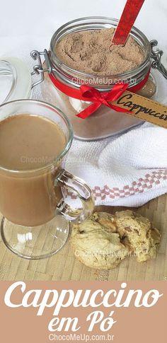 Receita de Cappuccino em Pó. Uma mistura deliciosa de Leite em pó, chocolate e café que fica prontinha para ser preparada em 1 minuto, quando você quiser. É só adicionar água ou leite quente e pronto. #receita #cappuccino #chocolate #café #receitacappuccino #leiteempo #leiteninho #sobremesa #doce #receitafácil #receitarápida