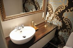 Small stylish powder room.