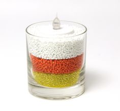 Candy Corn Candle - DIY Crafts #CousinCorp