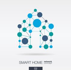Smart home integrated thin lines and circles. House Security, Technology Background, Home Network, Design System, Security Camera, Smart Home, Royalty Free Images, Circles