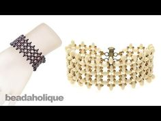 Instructions for the SuperDuo Right Angle Weave Bracelet Kit - YouTube
