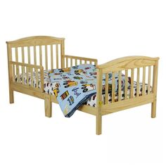 Dream On Me Mission Style Toddler Bed in Natural - - Toddler Beds - Nursery Furniture - Baby & Kids' Furniture - Furniture Nursery Furniture, Kids Furniture, Baby Kids, Toddler Bed, Flooring, Bedroom, Beds, Natural, Design
