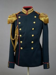 Uniform of Tsar Nicholas II in the form of an officer of the Life Guards Rifle Regiment of the imperial family, circa 1903.