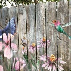 4 Prodigious Useful Ideas: Fence Art Design living fence photo galleries.Bamboo Fence Apartment small fence for gardens. Garden Fence Art, Garden Mural, Farm Fence, Diy Fence, Backyard Fences, Backyard Landscaping, Pallet Fence, Fence Ideas, Pool Fence