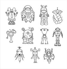 space robot Color Pages - - Yahoo Image Search Results Summer Activities For Kids, Summer Kids, Coloring Books, Coloring Pages, Robot Theme, Robot Monster, Robots Characters, Daycare Crafts, Cute Pillows