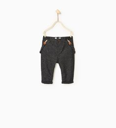 Image 1 of Lined trousers with braces from Zara