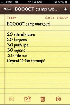 Idk what's boot camp about it, other than the 30 pushups and 20 burpees, but, looks like an easy day workout. Getting Back In Shape, Get In Shape, Weights Workout For Women, Health And Wellness, Health Fitness, Kettlebell Challenge, Mommy Workout, Weight Loss Challenge, Intense Workout