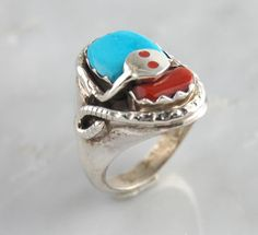 zuni Turquoise jewelry gold   ... Silver Turquoise Coral Snake Ring Native American Zuni Jewelry   eBay