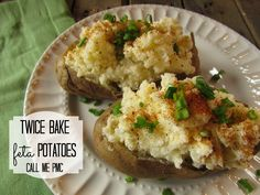 Twice baked feta potatoes from call me PMc Mashed Potato Cakes, Loaded Mashed Potatoes, Making Mashed Potatoes, Twice Baked Cauliflower, How To Cook Greens, Baked Cabbage, Steak Side Dishes, Baked Spaghetti Squash, Parmesan Potatoes