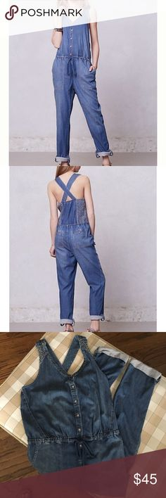 Anthropologie Holding Horses denim jumper/overalls Anthropologie Holding Horses denim jumper/overalls. Size 8. EUC. Only worn a couple of times. Cute & super soft denim. Looks cute alone & with a variety of tshirt underneath!! Great for spring!! Anthropologie Pants Jumpsuits & Rompers