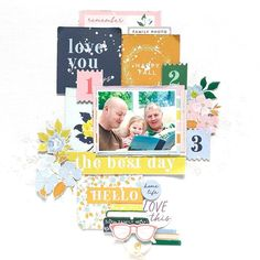 Hello Life, School Scrapbook Layouts, Glue Art, Tim Holtz Distress Ink, We R Memory Keepers, Ink Pads, Happy Fall, Good Day, Vintage Art