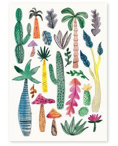 'Inky Garden' Art Print, Annie Davidson