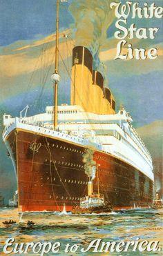 White Star Line Europe To America 1910s - www.MadMenArt.com | Travel Vintage…