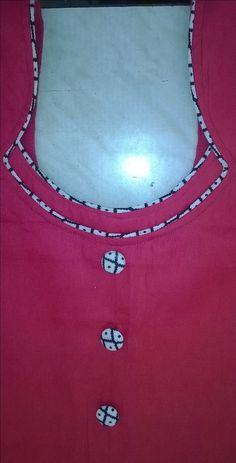 Different types of kurtis neck designs - Art & Craft Ideas Chudithar Neck Designs, Chudidhar Designs, Neck Designs For Suits, Neckline Designs, Fancy Blouse Designs, Designs For Dresses, Blouse Neck Designs, Salwar Neck Patterns, Salwar Pattern