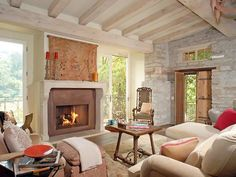 Warm Living Room with Fireplace Design Ideas: Warm Living Room with Fireplace Design Ideas