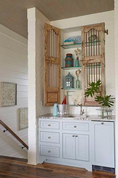 What beautiful Cabinet door idea.  House of Turquoise: Georgia Carlee