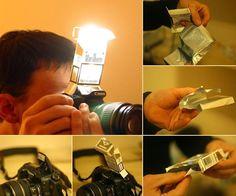 DIY Cigarette Box Flash Diffuser