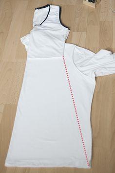 tie dye dress refashion step 2