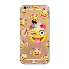 For Apple iPhone 6 6S 5 5S SE 6Plus 6sPlus 5C 4 4S Soft Silicon Transparent Phone Case Cover Cute Cat Rabbit Emojio Phone Capa