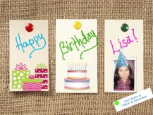 a fun birthday note I made for our co-worker, Lisa.. :-)