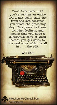 Will Self quote.  Fr