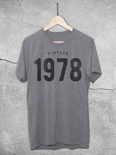40th Birthday gift ideas for men and women. This unisex Birthday shirt features the Vintage 1978 graphic print on the front. A unique 40th Birthday gift!